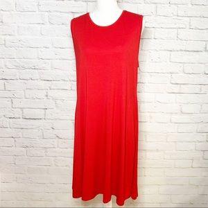 NWT Womens sleeveless swing dress Size XL